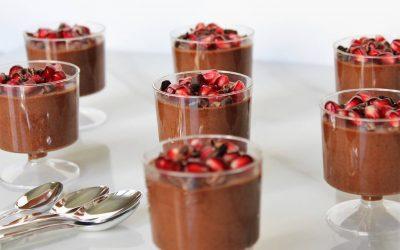 Aquafaba Chocolate Mousse Cups