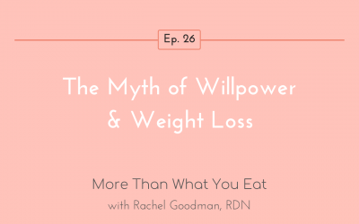 Ep 26 The Myth of Willpower & Weight Loss
