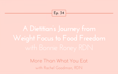 Ep 34 A Dietitian's Journey from Weight Focus to Food Freedom with Bonnie Roney RDN
